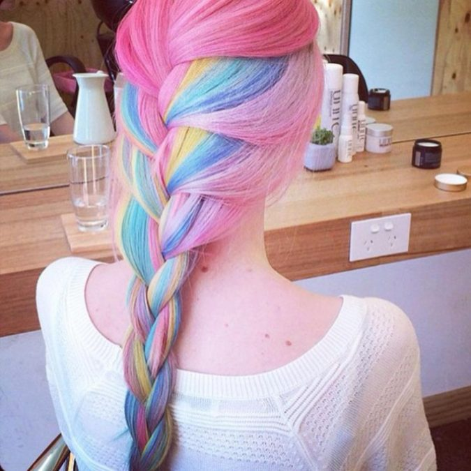 Colorfull-675x675 Top 20 Hottest Colorful Hair Ideas that Are So Cool in 2020