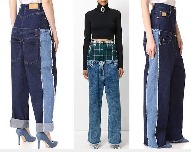 Double-Jeans-Fashion. 10 Weirdest Fashion Trends Hitting the World Now