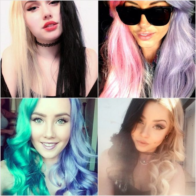 Half-and-Half.-675x675 Top 20 Hottest Colorful Hair Ideas that Are So Cool in 2020