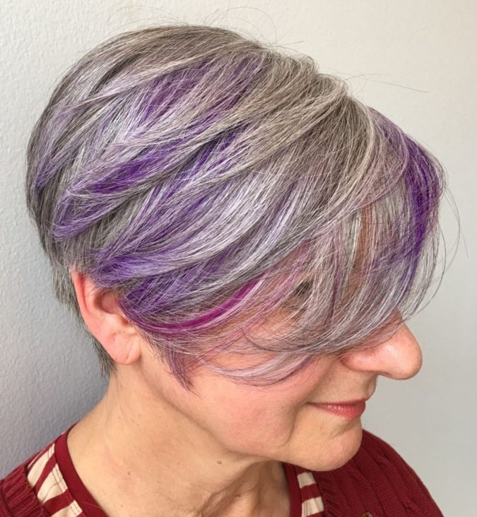 Lilac-hair-675x732 Best 12 Hairstyles for Women Over 60 to Look Younger