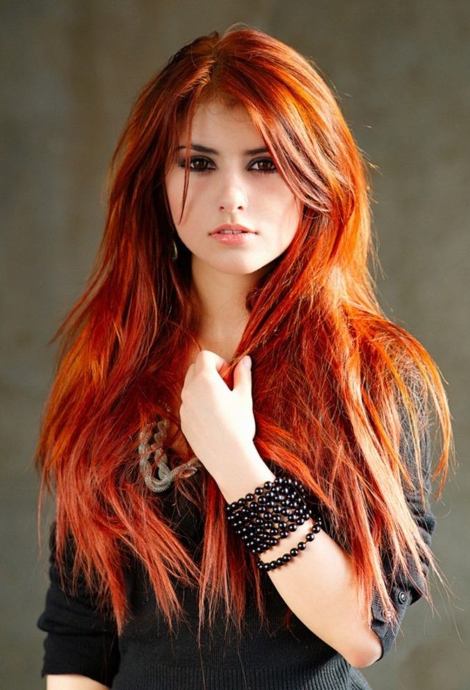 Natural-Looking-Red-1-675x992 Top 20 Hottest Colorful Hair Ideas that Are So Cool in 2021