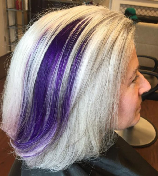 Naturallygray-and-purple-blue-tips-1-675x748 15 Beautiful Gray Hairstyles that Suit All Women Over 50