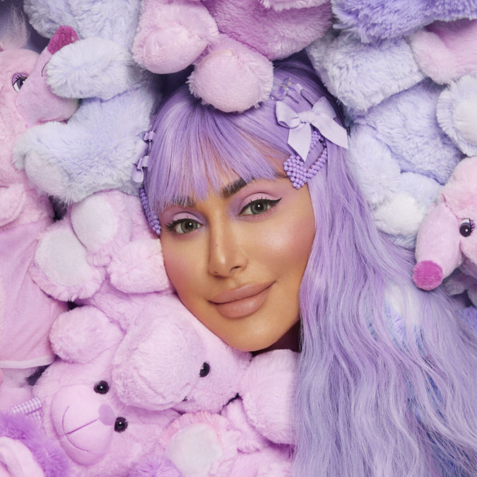 Pastel-Lavender.-675x675 Best 10 Colorful Face Makeup Looks to Try in 2020