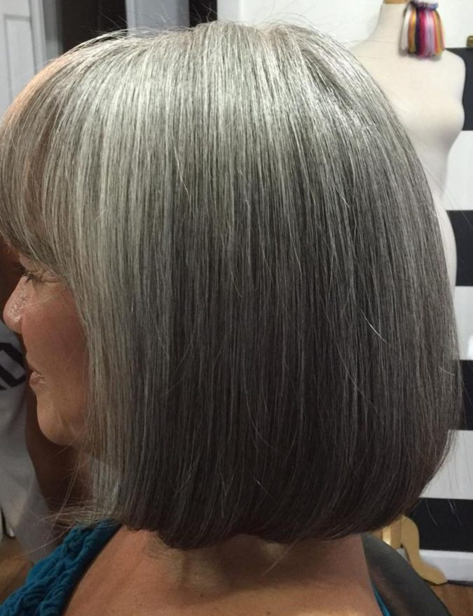 Straight-silver-look-675x879 15 Beautiful Gray Hairstyles that Suit All Women Over 50