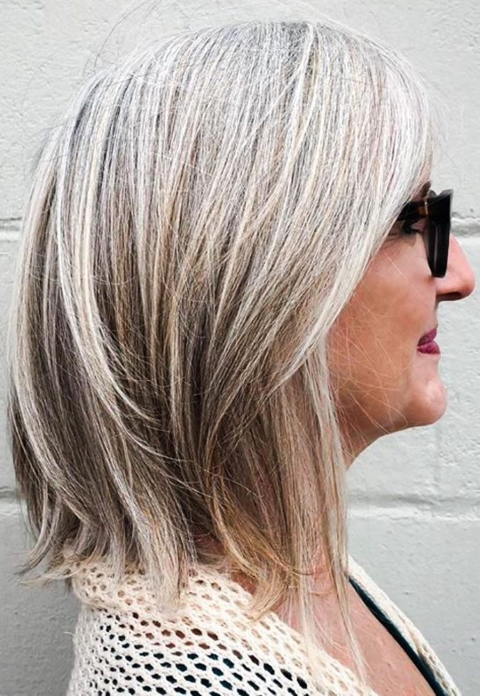 The-Blonde-gray-hair-675x978 Best 12 Hairstyles for Women Over 60 to Look Younger