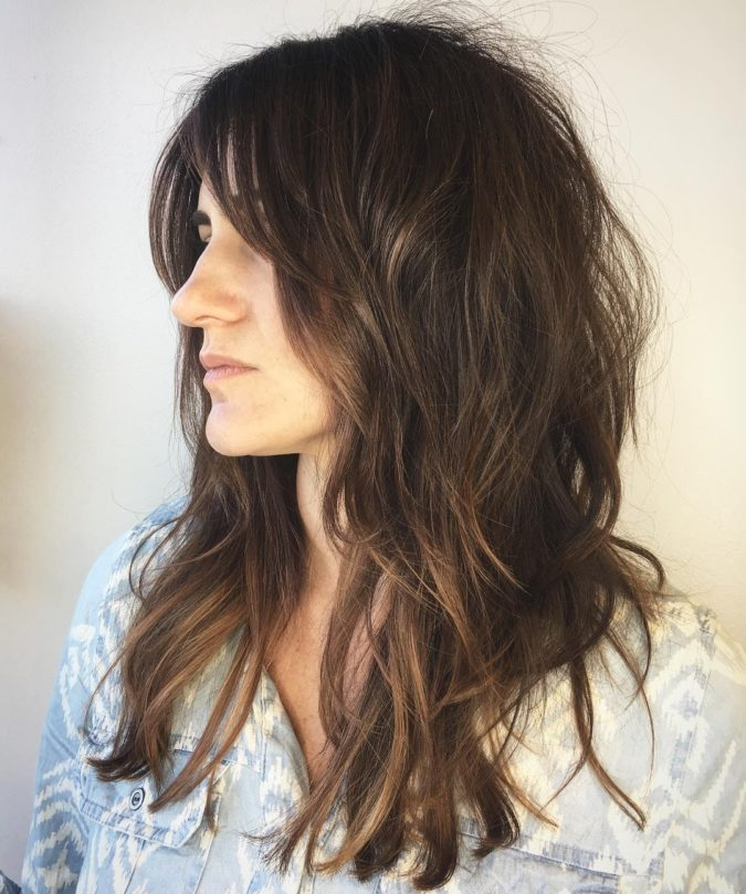 The-Brunette-Messy-Hair-Shag-1-675x809 20 Most Trendy Hairstyles for Women over 40 to Look Younger