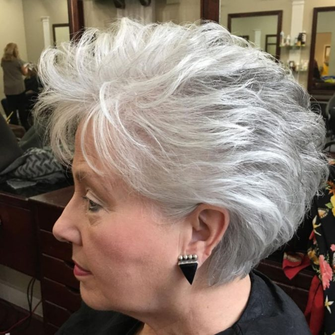The-Gray-and-White-Ombre-675x675 15 Beautiful Gray Hairstyles that Suit All Women Over 50