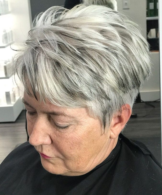 The-Gray-and-White-Ombre.-675x813 15 Beautiful Gray Hairstyles that Suit All Women Over 50