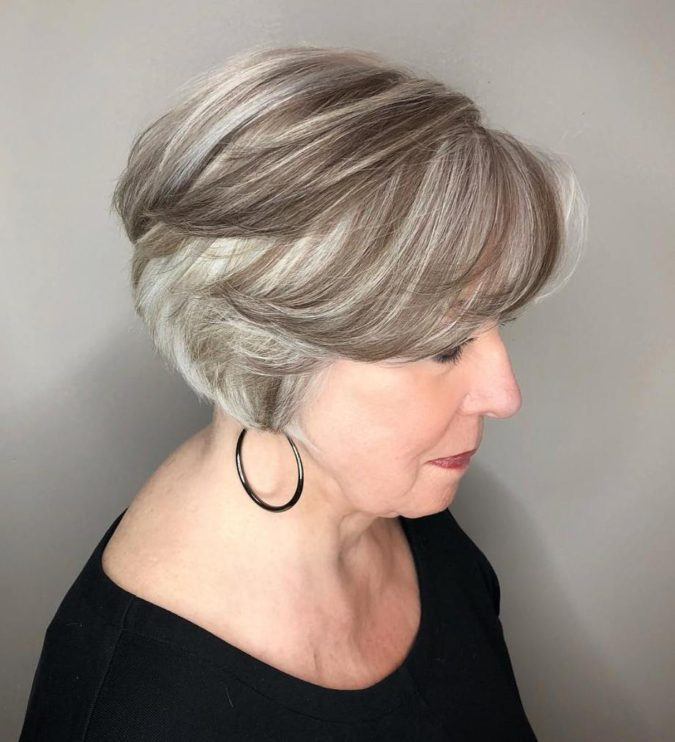 The-Gray-and-White-Ombre..-1-675x742 15 Beautiful Gray Hairstyles that Suit All Women Over 50
