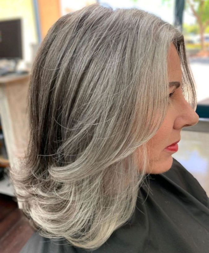 The-Gray-and-layered-hair.-675x816 15 Beautiful Gray Hairstyles that Suit All Women Over 50