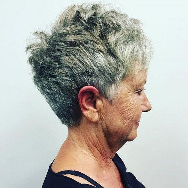 The-Gray-textured-hair-pixie-cut.-1-e1596056988251 15 Beautiful Gray Hairstyles that Suit All Women Over 50