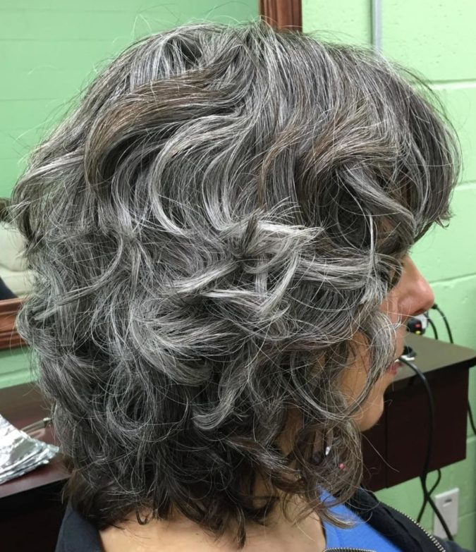 The-Shaggy-gray-wavy-lob-1-675x783 15 Beautiful Gray Hairstyles that Suit All Women Over 50