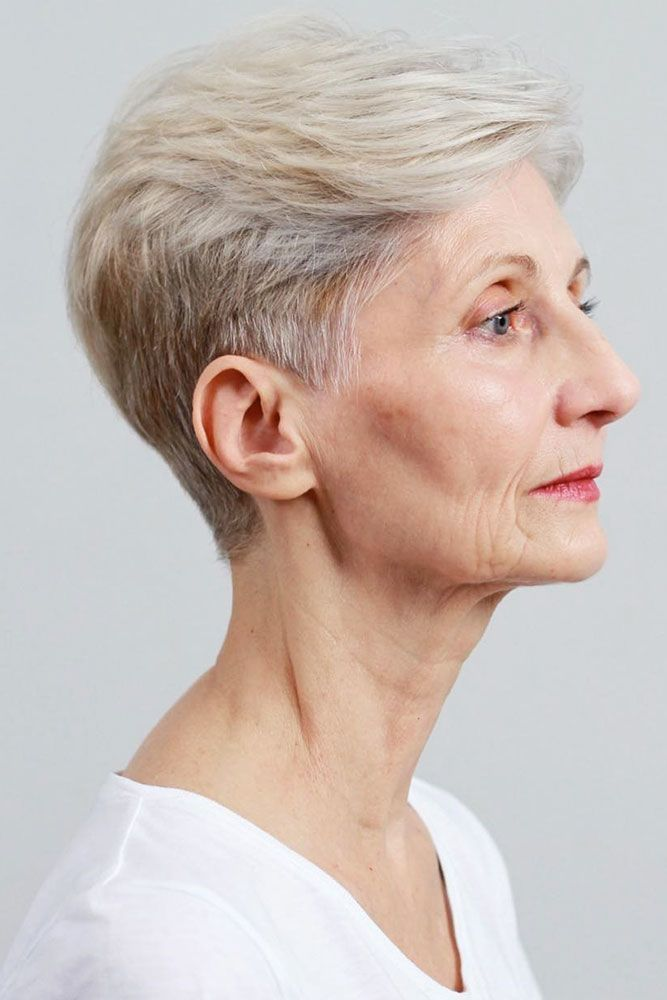 The-gray-pompadour-style. 15 Beautiful Gray Hairstyles that Suit All Women Over 50