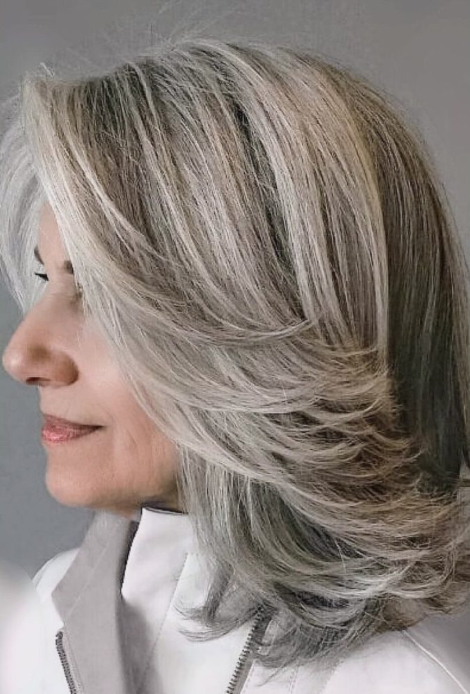 The-medium-gray-style-1-675x996 15 Beautiful Gray Hairstyles that Suit All Women Over 50