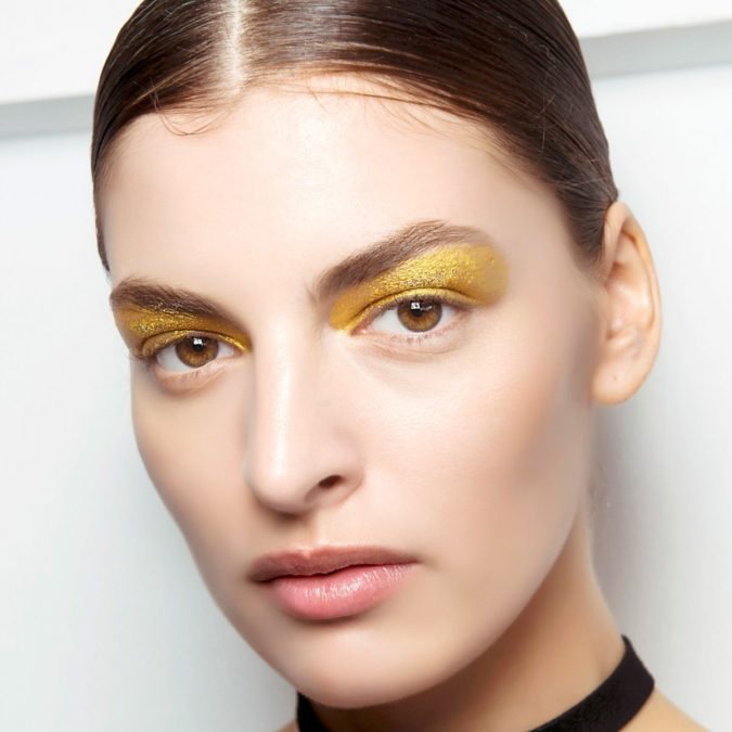 The-opaque-yellow-675x675 Best 10 Colorful Face Makeup Looks to Try in 2020