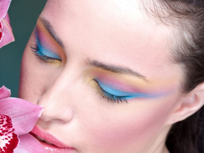 Watercolor-Lids-675x506 Best 10 Colorful Face Makeup Looks to Try in 2020