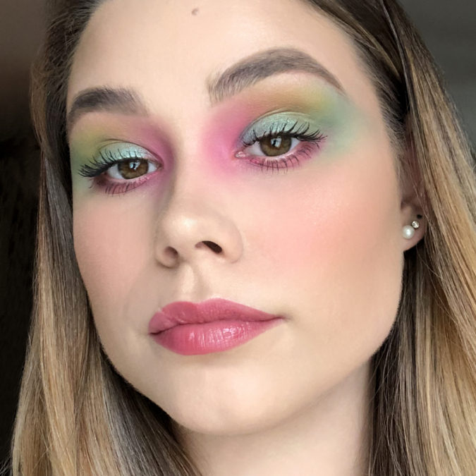Watercolor-Lids..-675x675 Best 10 Colorful Face Makeup Looks to Try in 2021