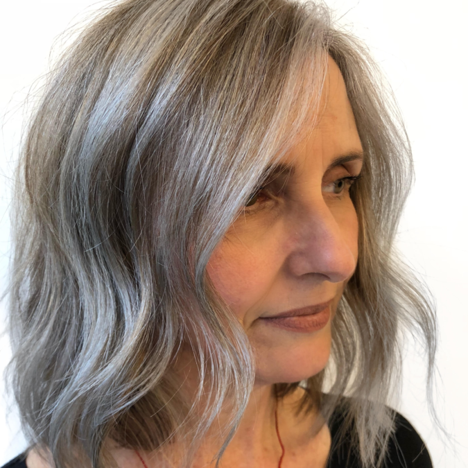 blended-gray-675x675 Best 12 Hairstyles for Women Over 60 to Look Younger