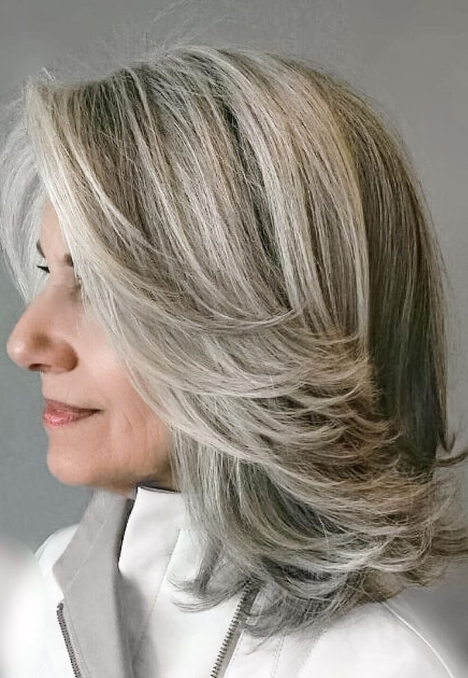 blended-gray-675x976 Best 12 Hairstyles for Women Over 60 to Look Younger