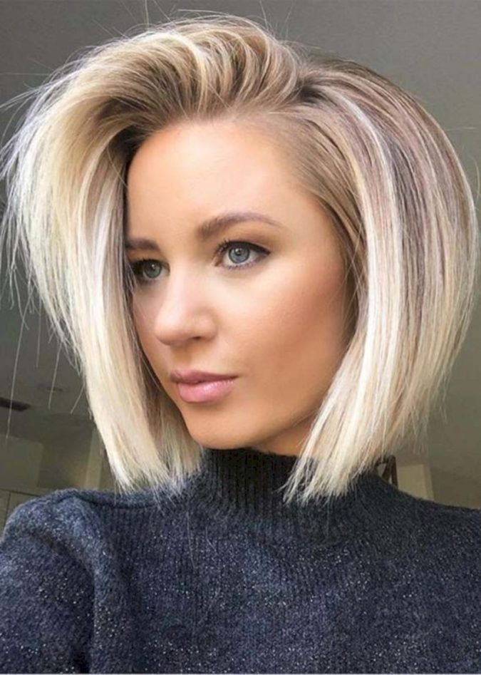 blonde-bob-hairstyle-675x947 20 Most Trendy Hairstyles for Women over 40 to Look Younger