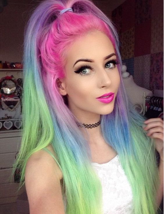 colorful-hair Top 20 Hottest Colorful Hair Ideas that Are So Cool in 2020