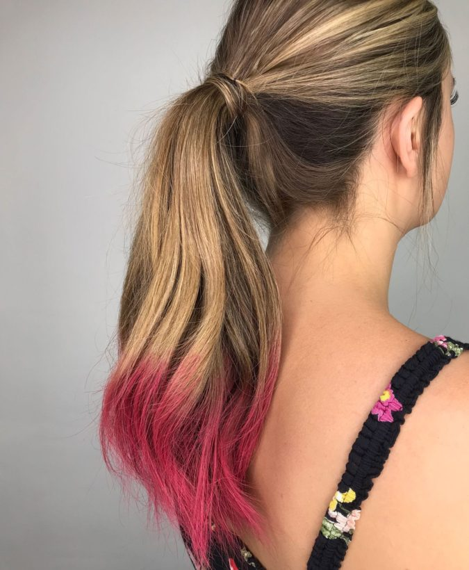 dip-dye-1-675x820 Top 20 Hottest Colorful Hair Ideas that Are So Cool in 2020