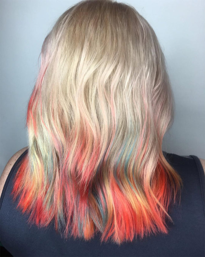 dip-dye.-1-675x844 Top 20 Hottest Colorful Hair Ideas that Are So Cool in 2020