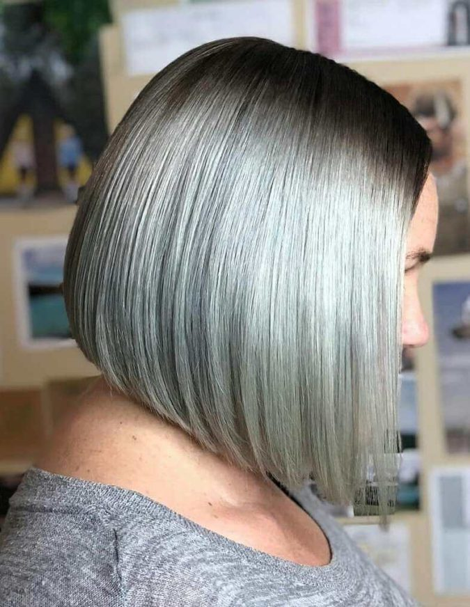 gray-Classic-Bob-1-675x872 15 Beautiful Gray Hairstyles that Suit All Women Over 50