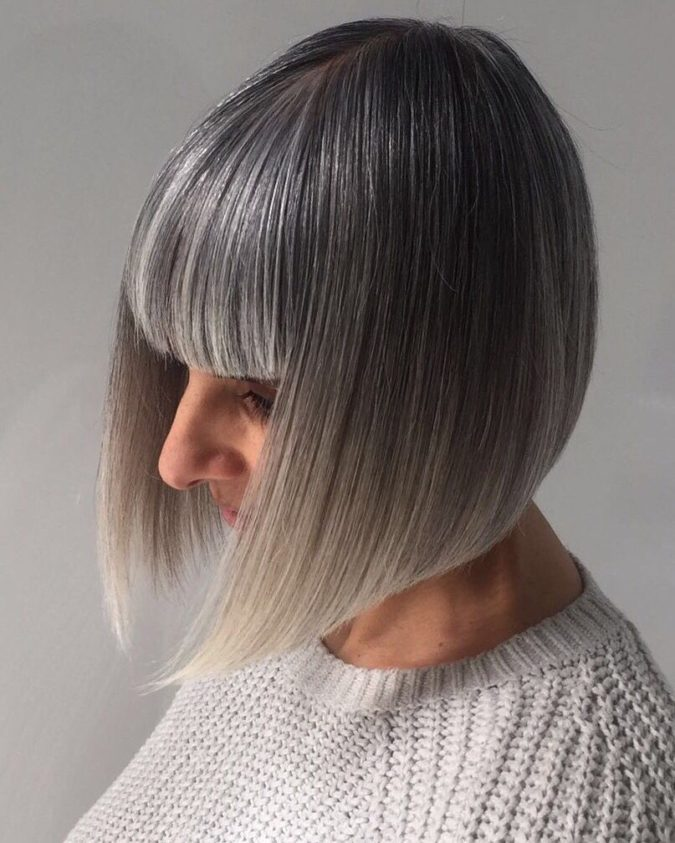 gray-Classic-Bob.-675x843 15 Beautiful Gray Hairstyles that Suit All Women Over 50