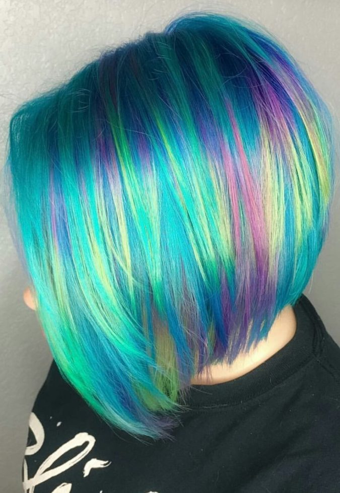 gree-hair-675x979 Top 20 Hottest Colorful Hair Ideas that Are So Cool in 2020