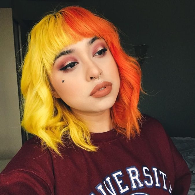 orange-hair-675x675 Top 20 Hottest Colorful Hair Ideas that Are So Cool in 2020