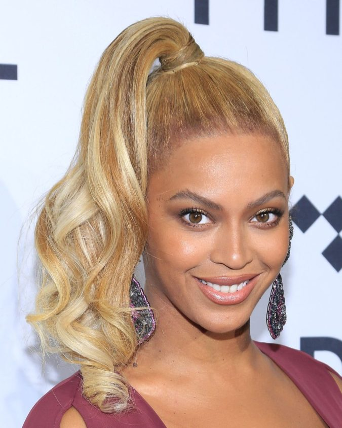 Beyoncé-675x844 +35 Hottest Ponytail Hairstyles that Suit All Women in 2020