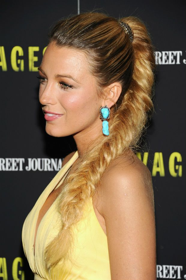 Blake-Lively +35 Hottest Ponytail Hairstyles that Suit All Women in 2020