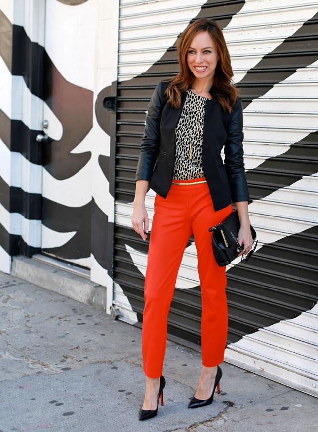 Blazer-and-Brights. +45 Stylish Women's Outfits for Job Interviews for 2021