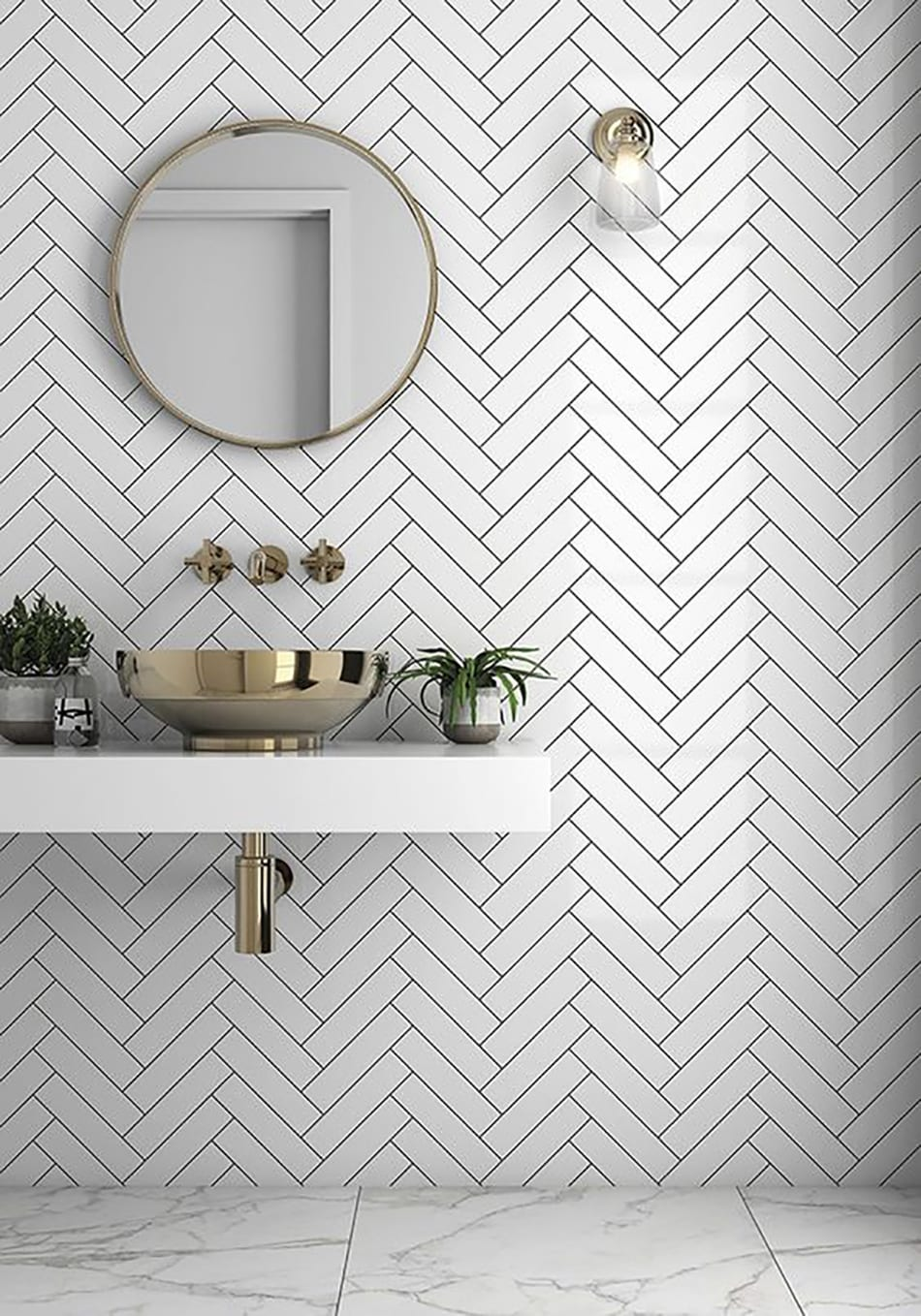 Chevron-pattern-1 Top 10 Outdated Bathroom Design Trends to Avoid in 2021
