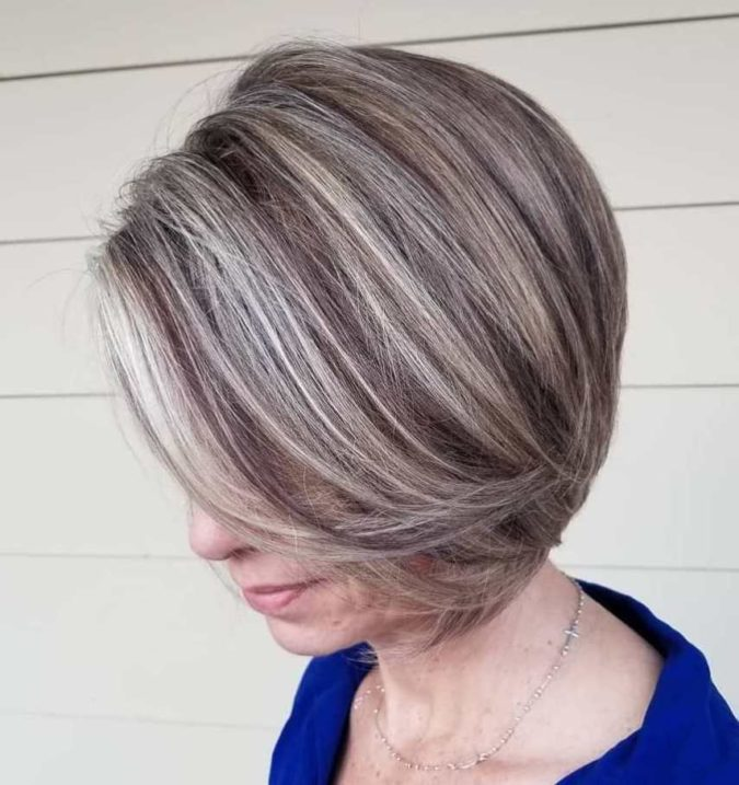 Dark-Hair-with-Blonde-Feathers-2-675x717 10 Hottest Hair Color Trends to Cover Gray Hair