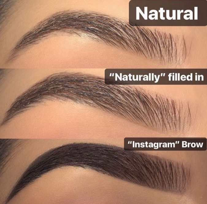Instagram-brows.-675x664 Top 10 Outdated Beauty and Makeup Trends to Avoid in 2020