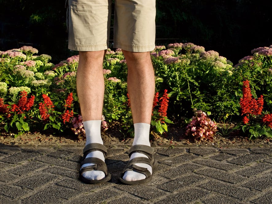 Sandals-with-Socks. Top 10 Outdated Fashion & Clothing Trends to Avoid in 2020