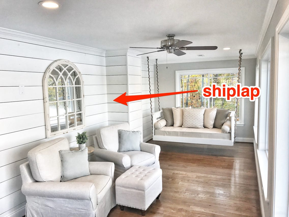 Shiplap. Top 10 Outdated Home Decorating Trends to Avoid in 2021