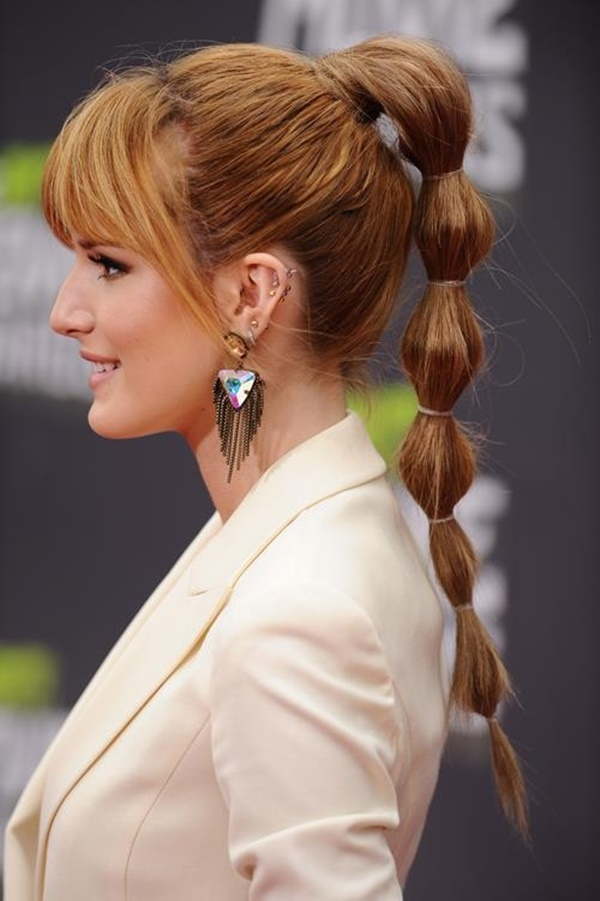 The-Bubble-ponytail +35 Hottest Ponytail Hairstyles that Suit All Women in 2021