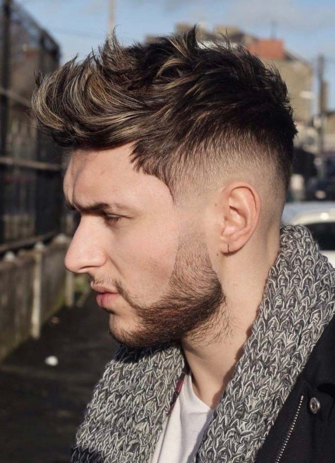 The-Fauxhawk-675x932 Top 10 Hottest Hairstyles To Suit Men With Round Faces