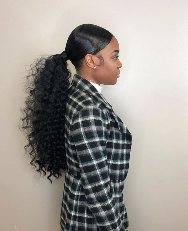 The-Ponytail-and-a-weave +35 Hottest Ponytail Hairstyles that Suit All Women in 2021