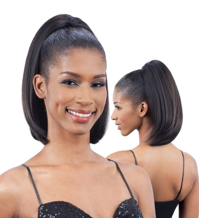 The-Ponytail-with-double-side-partings-1-675x738 +35 Hottest Ponytail Hairstyles that Suit All Women in 2021