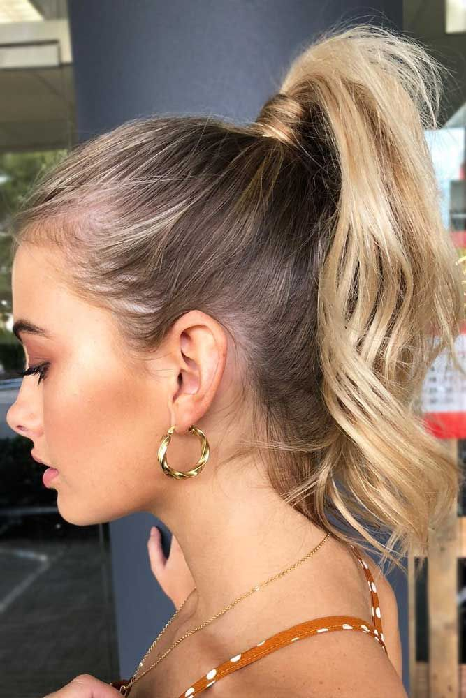 The-curly-ponytail-style.. +35 Hottest Ponytail Hairstyles that Suit All Women in 2021
