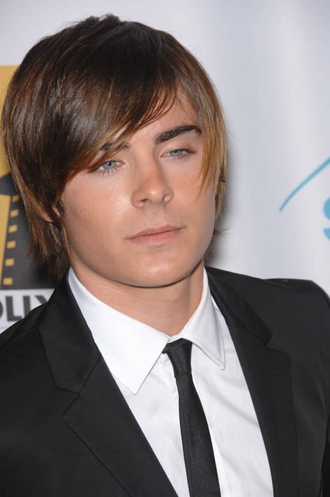 The-side-swept-bangs-2 Top 10 Hottest Hairstyles To Suit Men With Round Faces