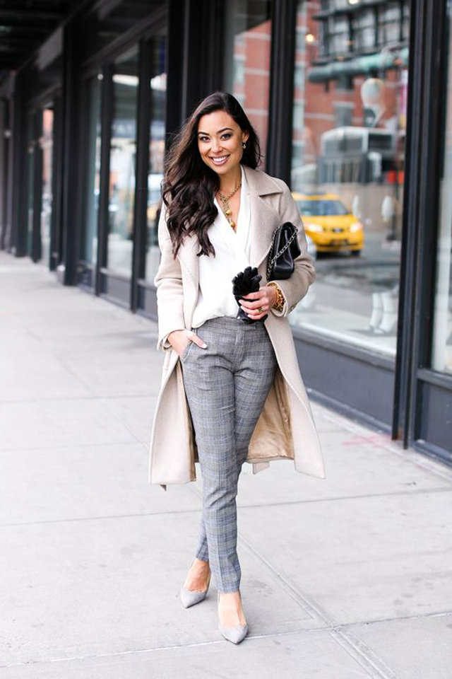 Tweed-Trousers-1 +45 Stylish Women's Outfits for Job Interviews for 2021