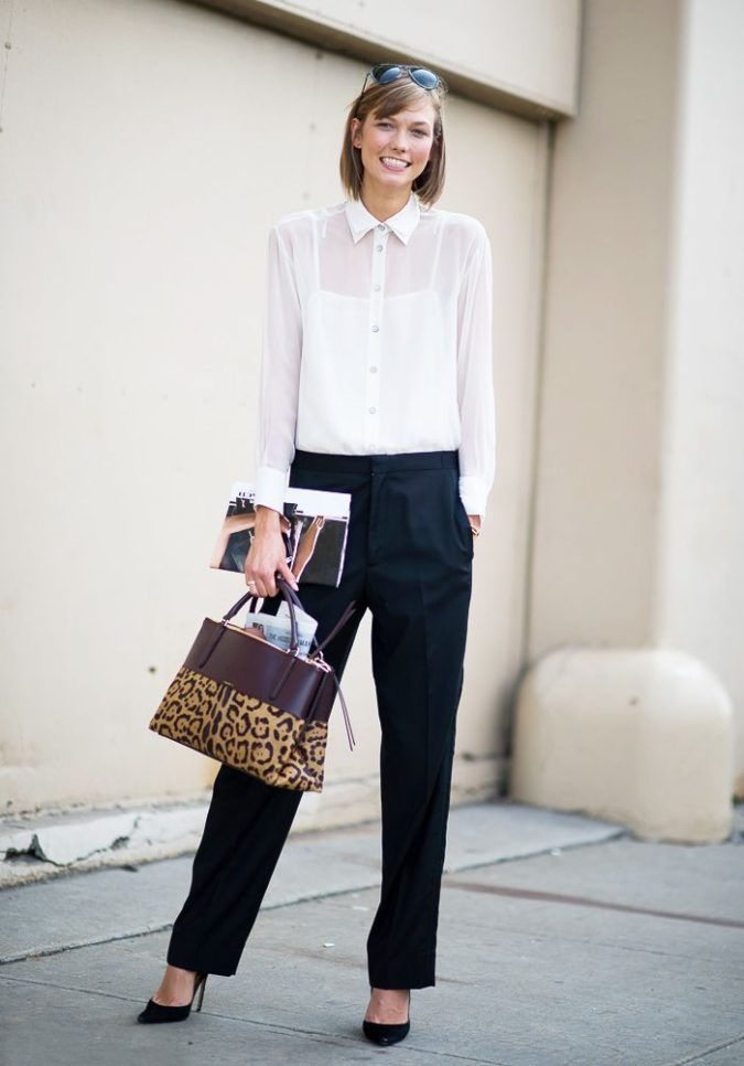 White-blouse-black-pants-1-675x966 +45 Stylish Women's Outfits for Job Interviews for 2021
