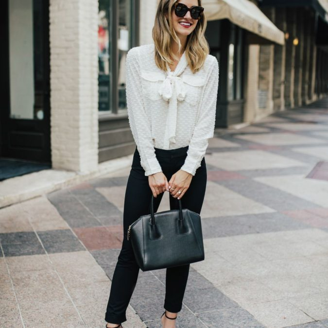 White-blouse-black-pants.-675x675 +45 Stylish Women's Outfits for Job Interviews for 2020