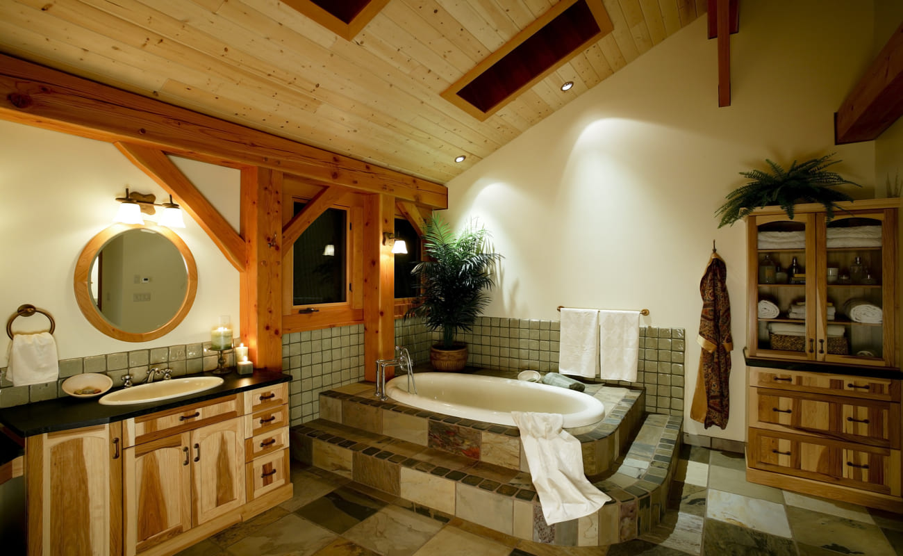 Wood-on-the-Ceiling-3 Top 10 Outdated Bathroom Design Trends to Avoid in 2021
