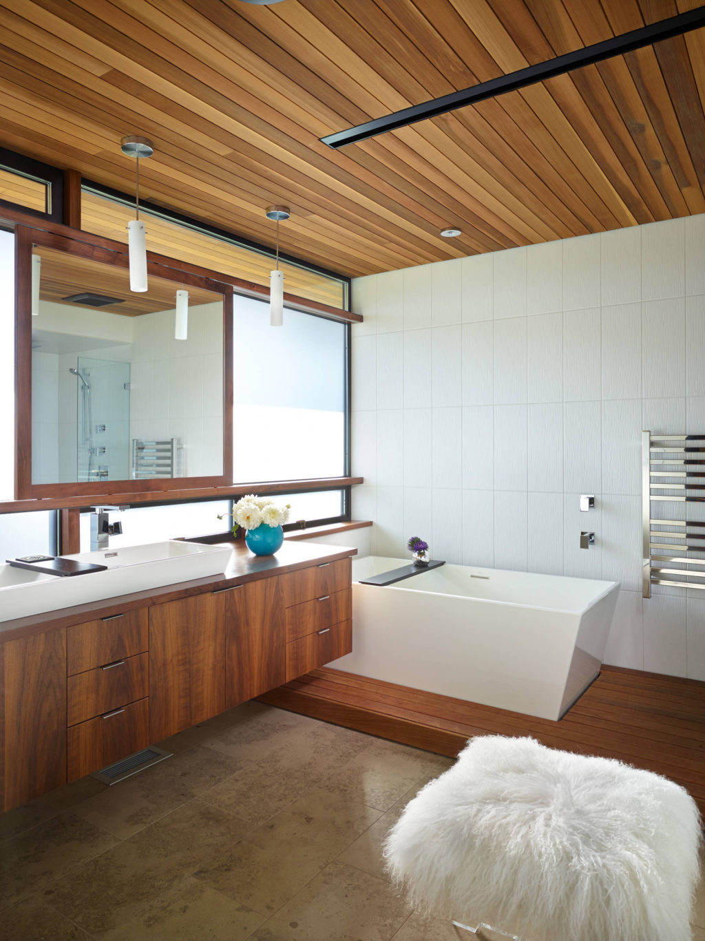 Wood-on-the-Ceiling.-1024x1367 Top 10 Outdated Bathroom Design Trends to Avoid in 2021